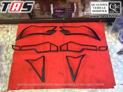 Pajero Sport All New GARNISH LAMPU DEPAN BELAKANG  BLACK MATTE HITAM DOFF ALL NEW PAJERO SPORT