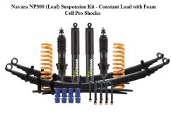 Suspensi Ironman NAVARA NP300 LEAF SUSPENSION KITCONSTANT LOAD WITH FOAM CELL PRO SHOCKS navara np300 leaf suspension kit  constant load with foam cell pro shocks